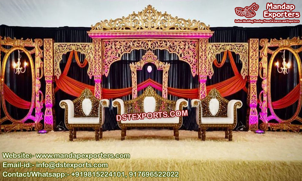 Wedding Exquisite Designed Bollywood Stage