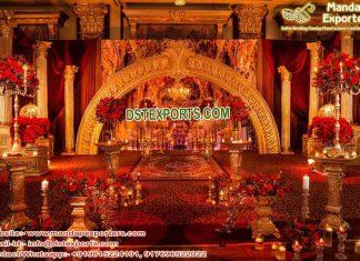 Wedding Roman Pillars Half-Moon Stage Decoration