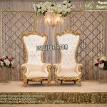 Wedding Stage Set With Candle Walls