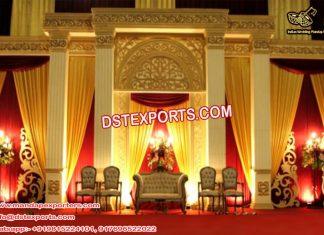 Wedding Victorian Roman Pillar Stage Setup
