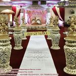 Wedding Walkways Pillars With Dancing Ganesha