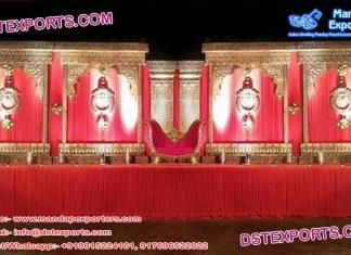 Antiqued Design Wedding Jhumka Back-Frame