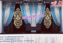 Muslim Wedding Embroidered Backdrop Curtains