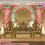Delightful Wedding Stage with Fiber Back walls
