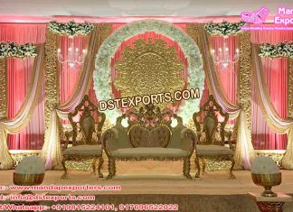 Delightful Wedding Stage with Fiber Back walls