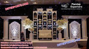 Glorious Asian Wedding Back Stage Decor