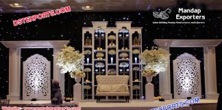 Glorious Asian Wedding Back Stage Decor