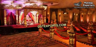 Golden Maharaja Wedding Mandap UK