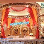 Hindu Wedding Spiral Gold Carved Mandap copy