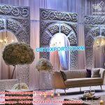 Magnificent White Wedding Backstage Frame