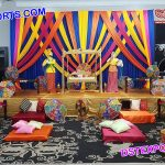 Traditional Punjabi Mehndi Stage Set up