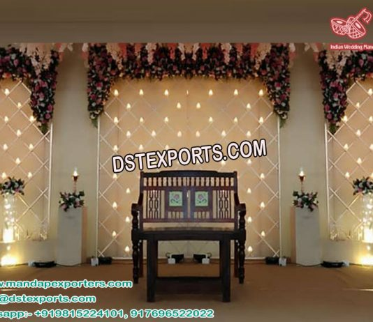 Stylish Wedding Candle wall for Stage