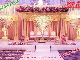 Indian Wedding Triple Pillar Mandap Setup