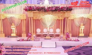Indian Wedding Triple Pillar Mandap Setup