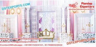 Modern Bollywood Wedding Stage Decoration
