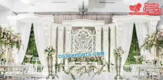 Latest Fiber Indo-Western Wedding Stage