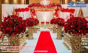 Hindu Wedding Golden Fiber Mandap New York