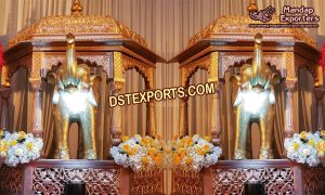 Hindu Wedding Temple Panel Props