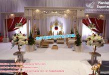 Stylish Hindu Wedding Triple Pillar Mandap