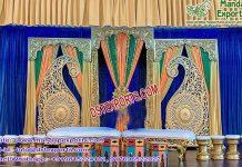 Asian Sangeet Stage Paisley Decoration USA