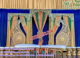 Asian Sangeet Stage Paisley Decoration USA