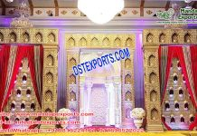 Best Wedding Event Fiber Candle Wall Stage