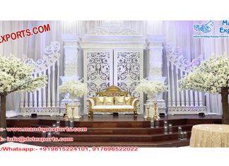 Classy Wedding Back-Frame Stage Decor