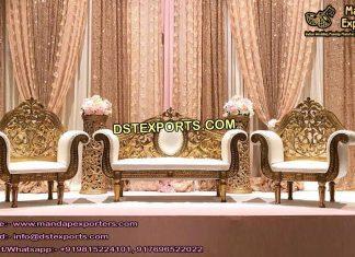 Designer Metal Carved Wedding Furniture USA