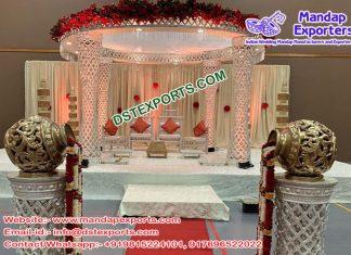 Elegant Wedding Crystal Palazzo Mandap Fiji