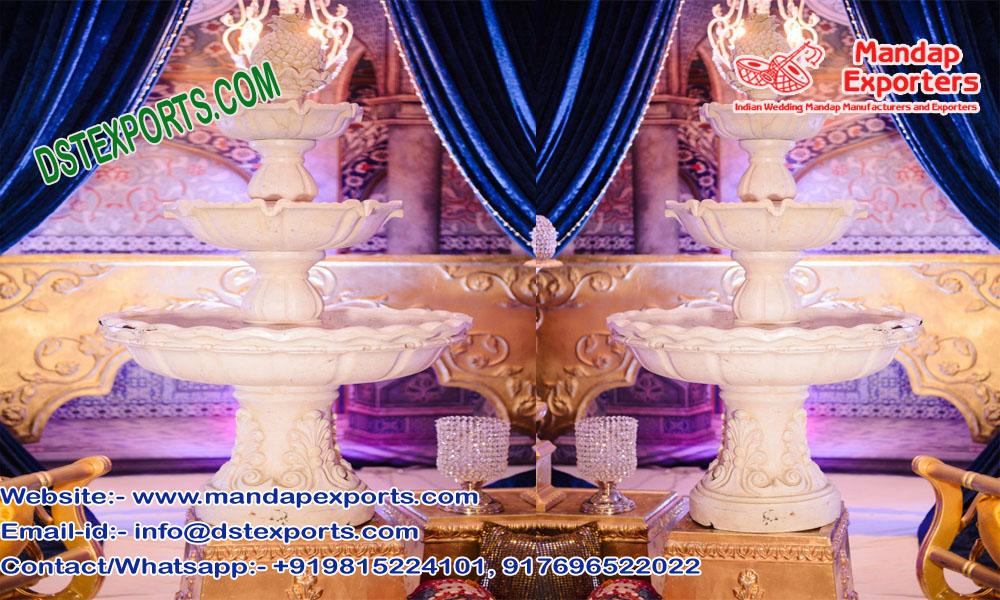Fiber Fountain for Wedding Decoration