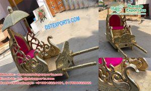 Golden Peacock Style Bridal Doli/Palki