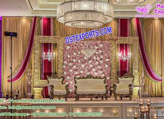 Graceful Wedding Stage Decoration Houston