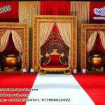 Grand Asian Wedding Fiber Carved Stage
