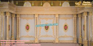 Hindu Wedding Double Pillar Stage UK