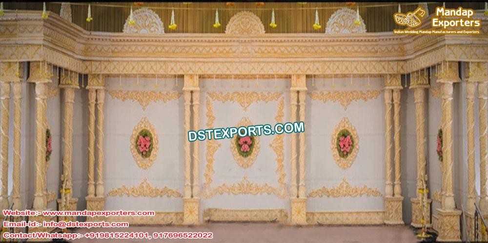 Hindu Wedding Double Pillar Stage UK