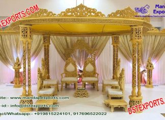 Hindu Wedding Triple Pole Mandap Germany