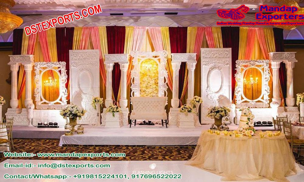 Modern Wedding Stage Back-frame London