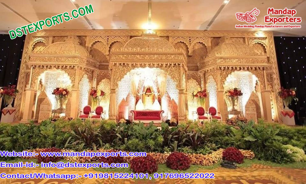 Moroccan Wedding theme Golden Stage Set