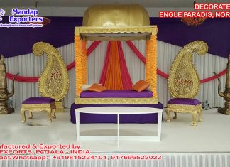 Muslim Mehndi Night Wedding Stage Norway