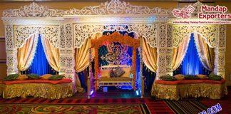 Stylish Muslim Mehndi Sangeet Stage