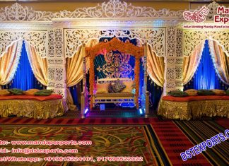 Stylish Muslim Mehndi Sangeet Stage