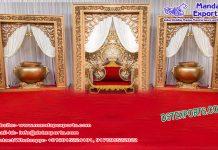 Stylish Wedding Golden Fiber Frame Calgary