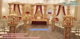 Traditional Radha Krishan Wedding Stage Decor