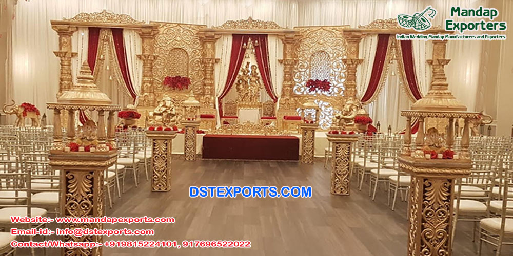 Traditional Radha Krishan Wedding Stage Decor