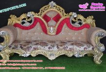 Traditional Wedding Diamond Gold Sofa