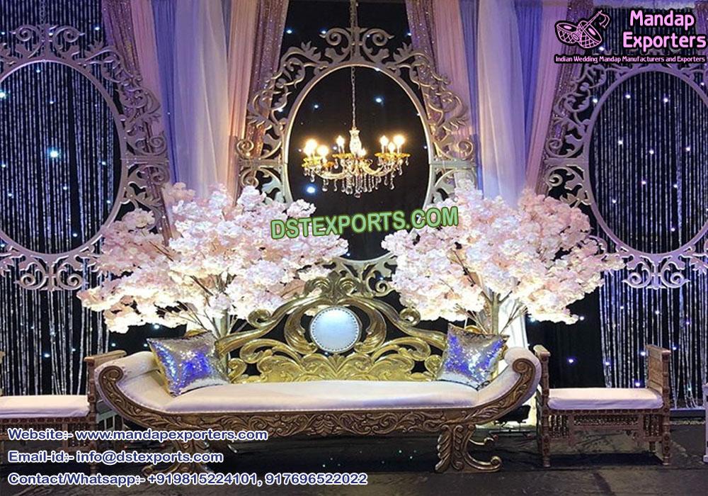 Trending Wedding Oval Shape Back frame