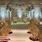 Wedding Classy Crystal Butterfly Mandap USA
