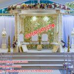 Wedding White Fiber Carved Double Pole Mandap USA