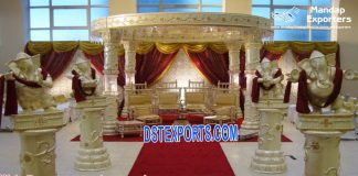 Latest Fiber Crystal Wedding Mandap California