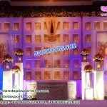 Asian Wedding Stage Candle Back-Walls